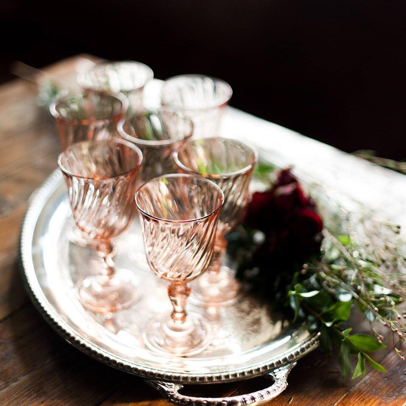 Pink Goblet Glass