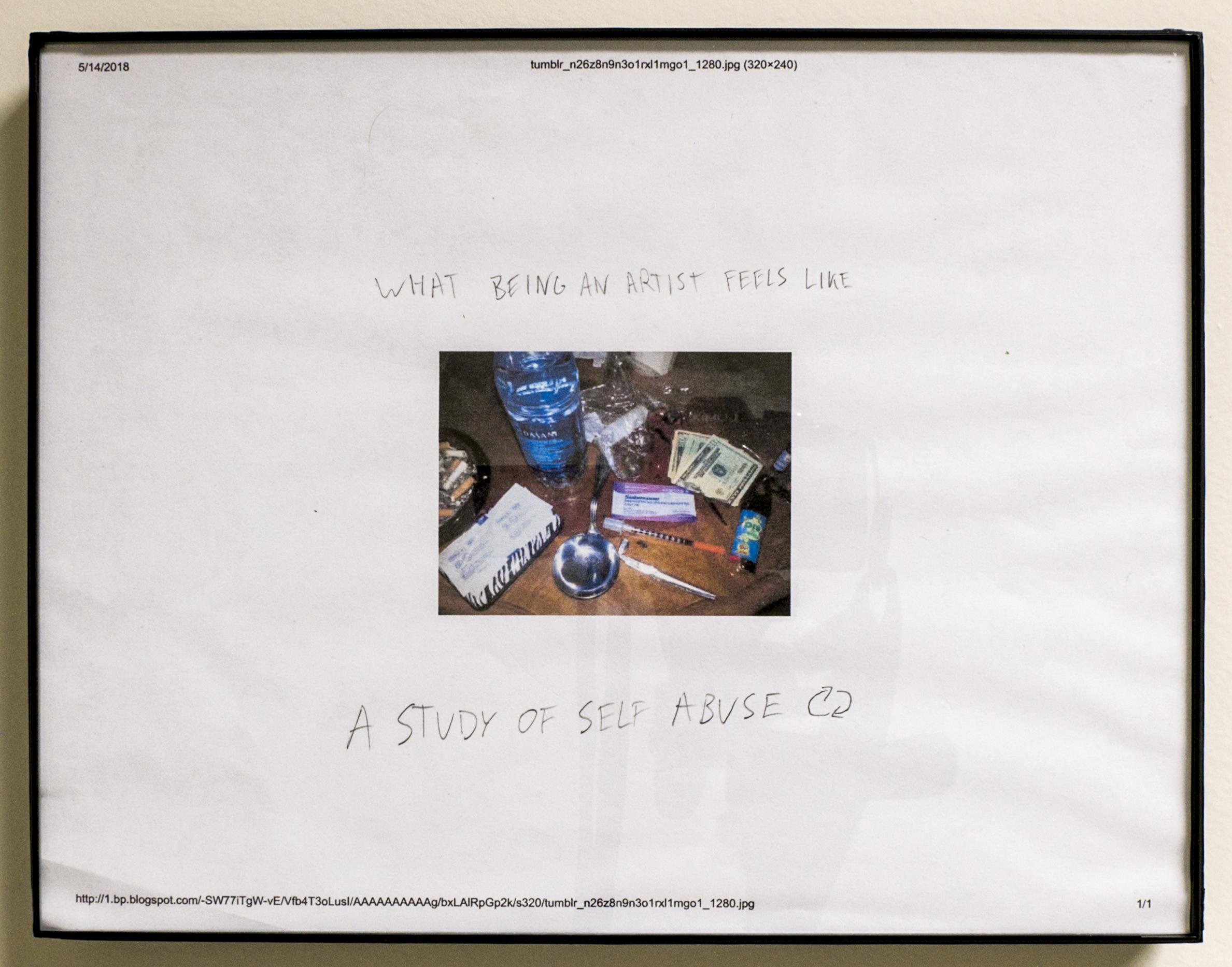 "A Study of Self Abuse, 9""x12"""