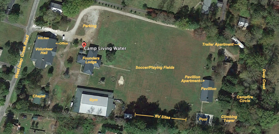 Google Earth View of Camp Living Water