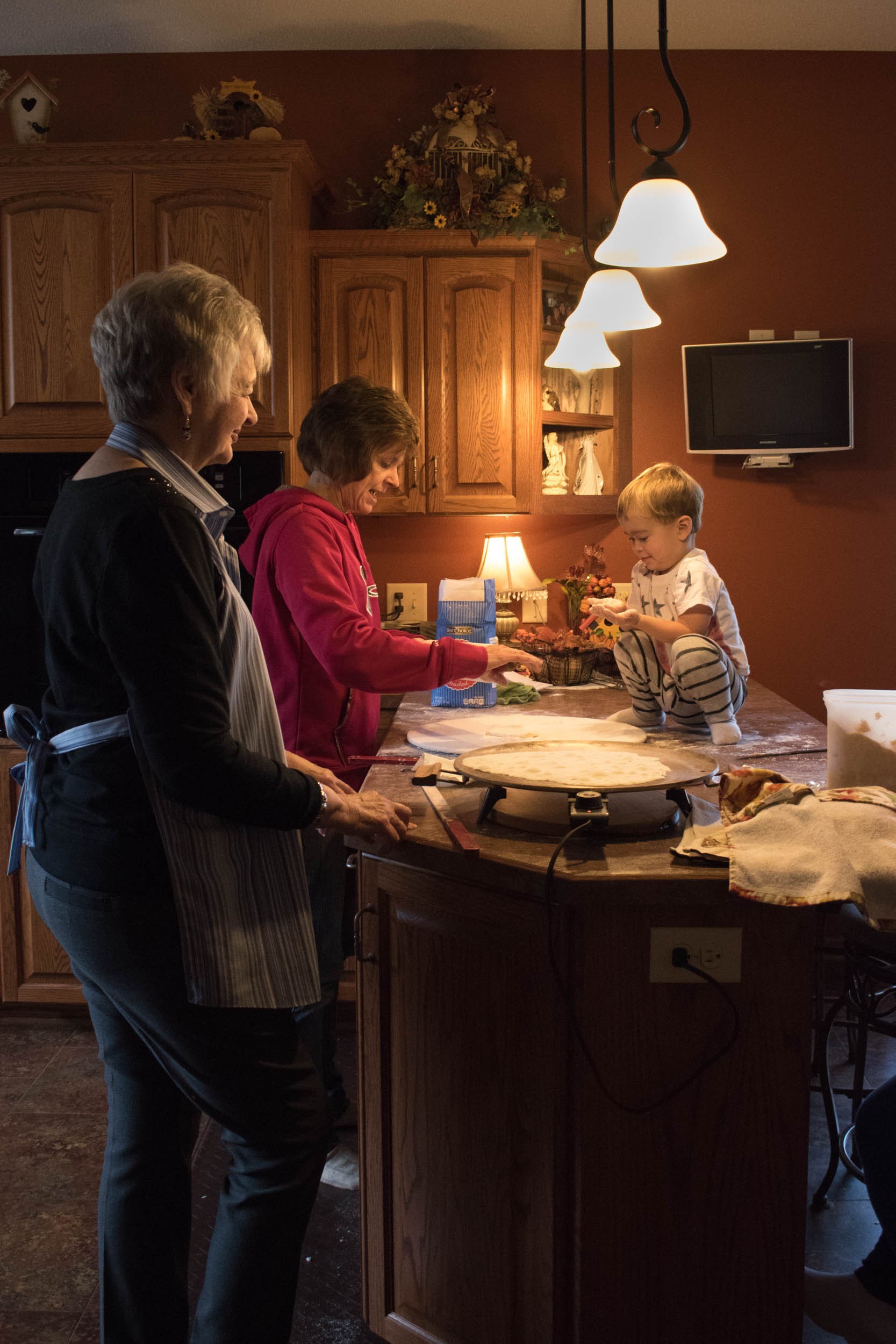 A special thanks to my grandma, my mom and my son, Josh, for helping make lefse this year.