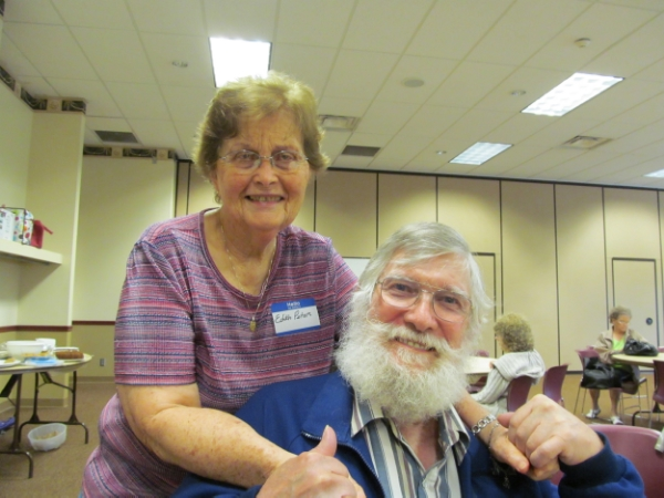 Dad and our cousin, Edith. Edie is one of my greatest influences and supporters--even from Honduras.
