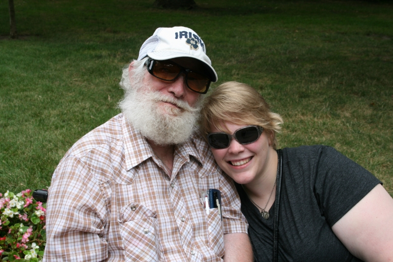 Dad and me at Notre Dame, the day before my graduation
