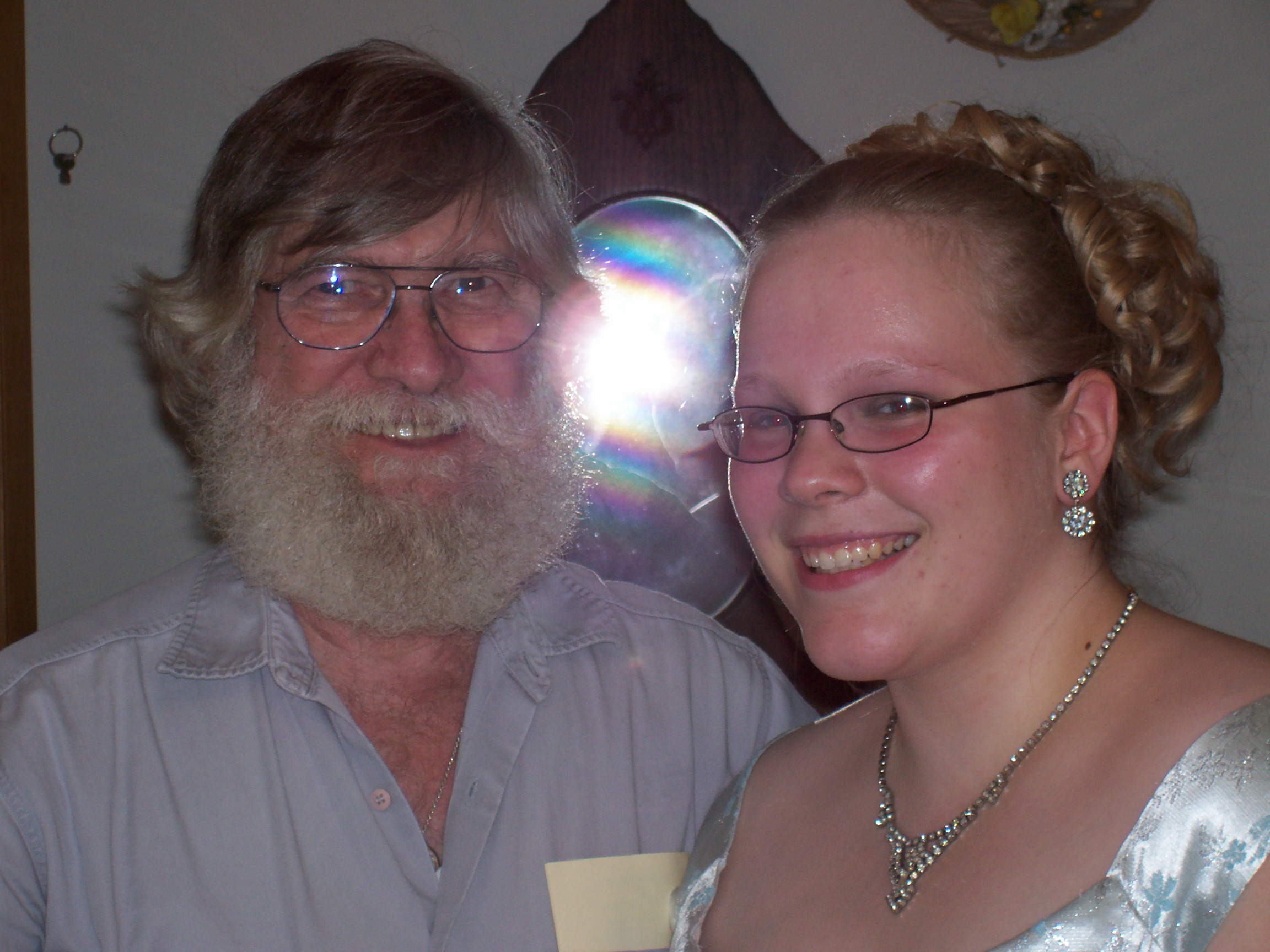 Dad and me before my junior prom