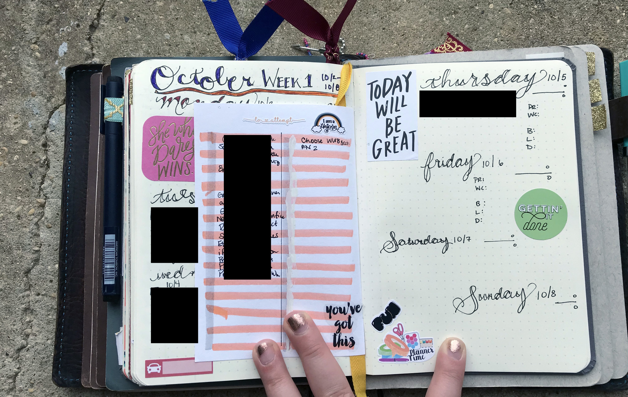 """""""Planner Time"""" sticker from Wesley Rose Studio. """"Fun"""" sticker from Lovely Planner Nerds."""