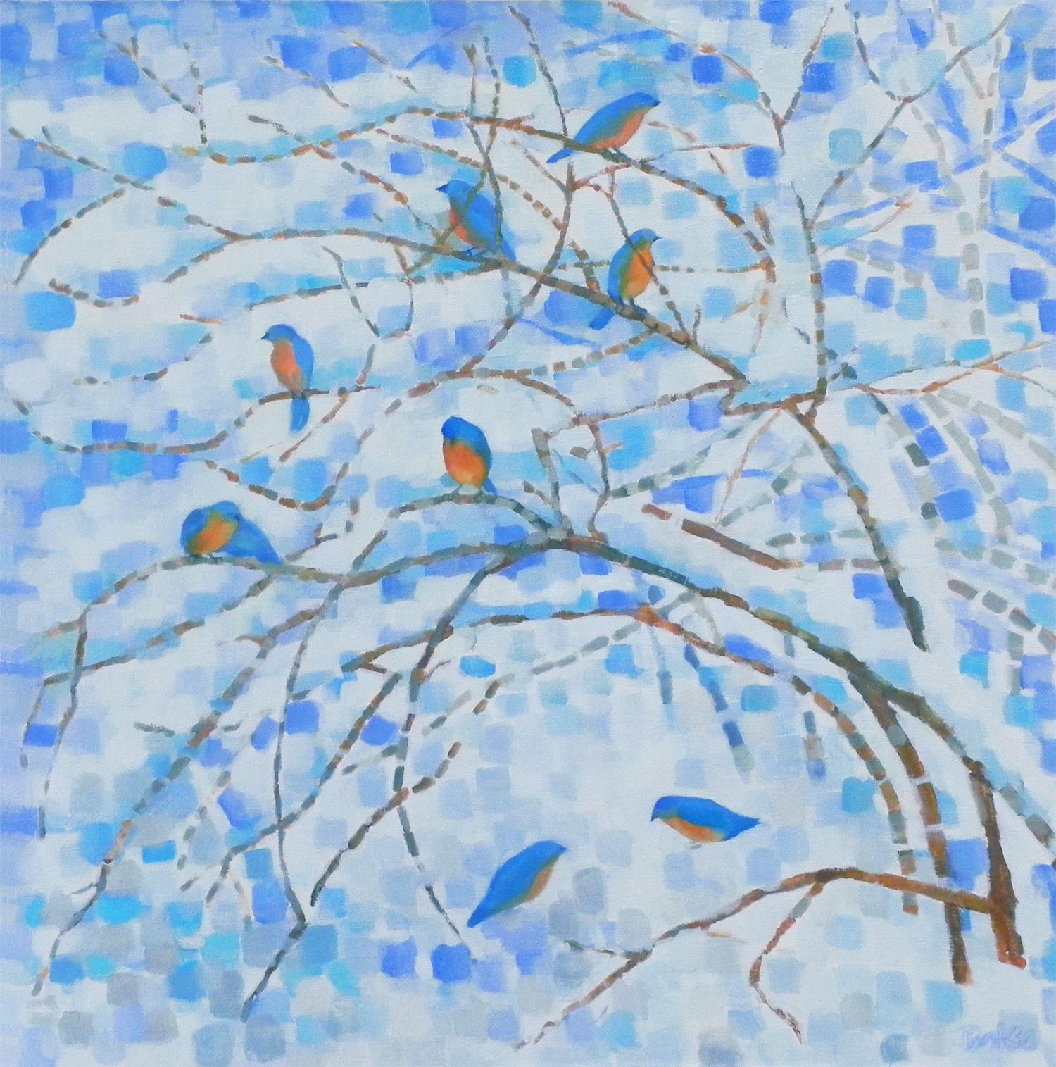 Bluebirds In Winter II