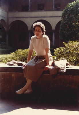 Teresa Welch in Florence, Italy, April, 1982