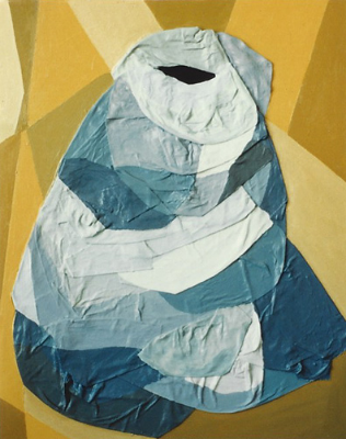 Teresa Welch,  Homeless,  Acrylic and mixed media relief on canvas, 1990
