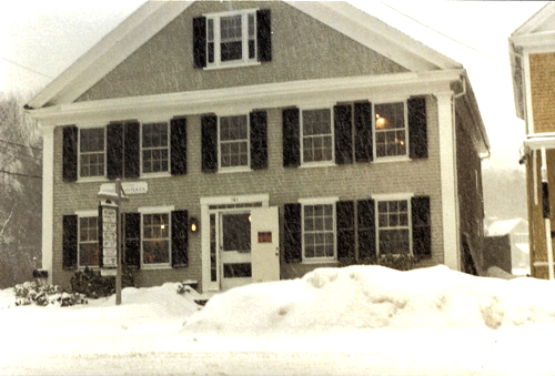 Crocker House, Old King's Highway, Yarmouthport, MA, T.Welch Studio upstairs right, 1991