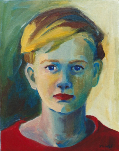 "Teresa Welch,  Jonathan , oil/canvas, 10"" x 8"", 1992"