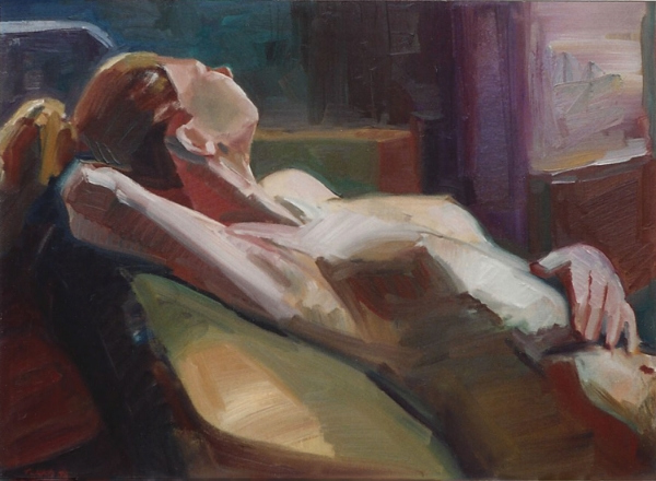 "Teresa Welch, Figure Study, oil/canvas, 22"" x 30"", 1993"