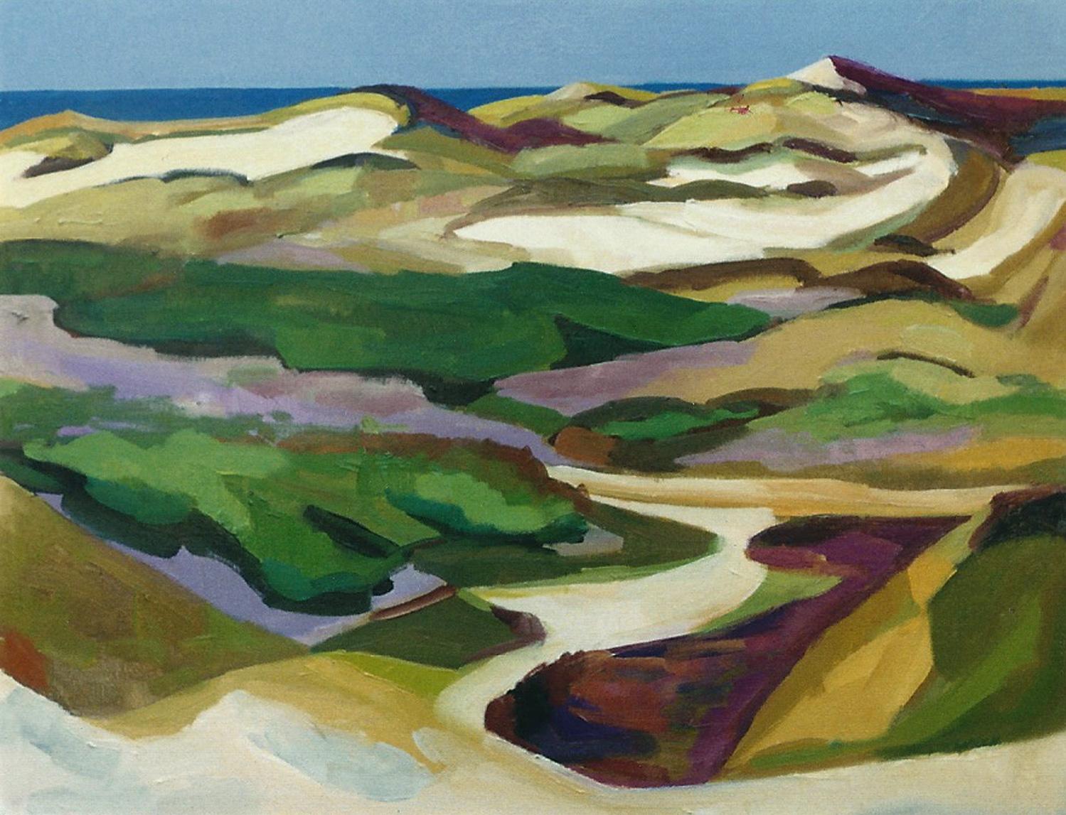 "Teresa Welch,  Truro Bowl II , oil/canvas, 19"" x 25"", 1993"