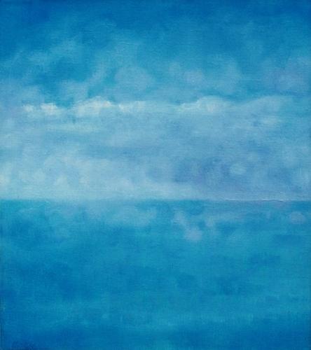 """Teresa Baksa,  Approaching Front , oil/linen, 16"""" x 14"""", 2001"""