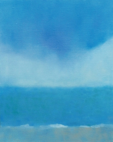 "Teresa Baksa,  Blue Cloud , oil/linen, 20"" x 16"", 2000"