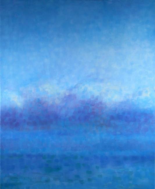 "Teresa Baksa,  Cloud Bank,  oil/linen, 34"" x 28"", 2001"