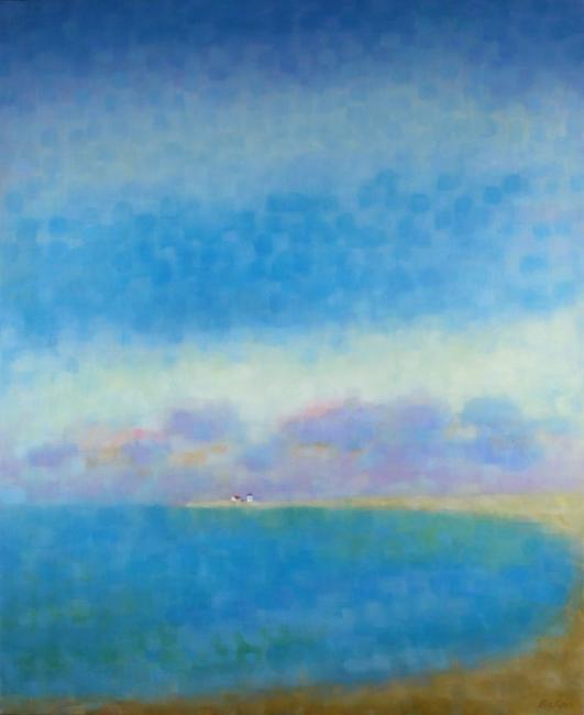 """Teresa Baksa,  Herring Cove Sky,  oil/linen, 34"""" x 28"""", 2001"""