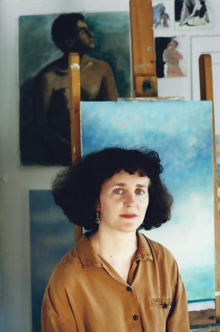 Teresa Baksa in her studio, Baksa Studio, Dennis, MA, 2001