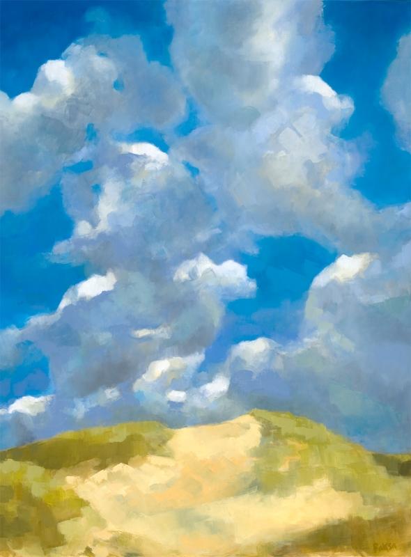 """Teresa Baksa,  Cloud Reach , oil/linen, 48"""" x 36"""""""