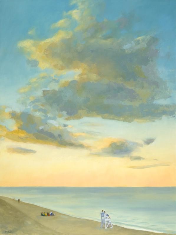 "Teresa Baksa, Quiet Evening Splendor, oil/linen, 48"" x 36"""
