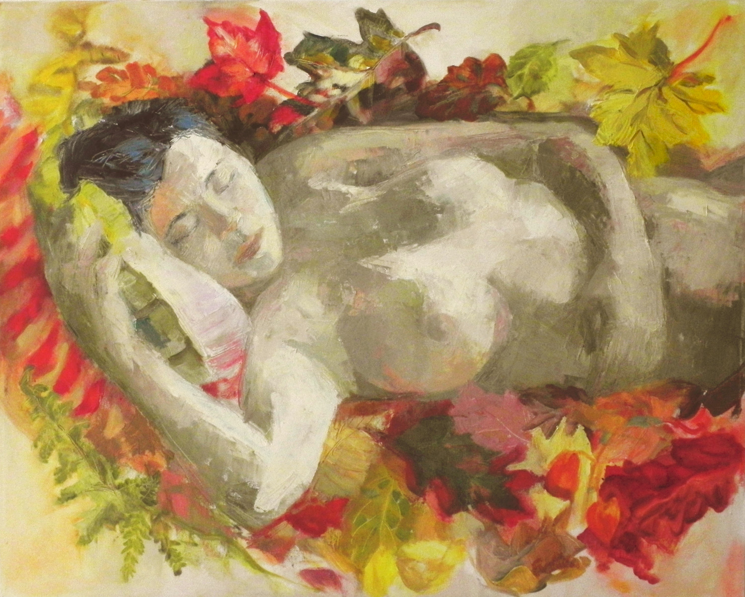 Asleep In Falling Leaves