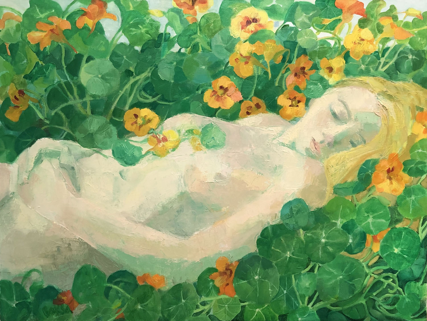 In A Bed Of Nasturtiums