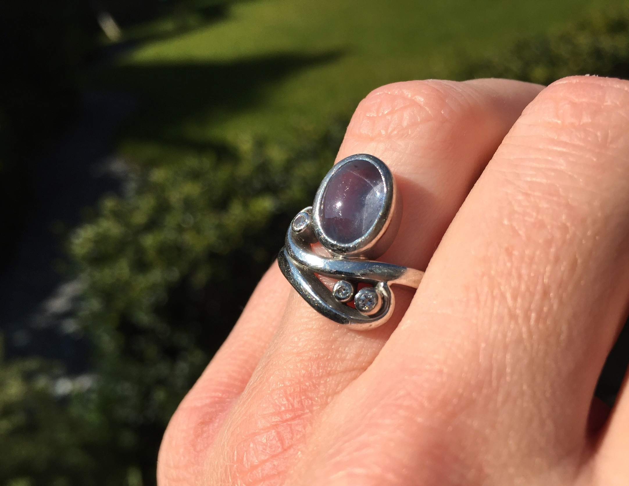 My very special engagement/wedding ring.