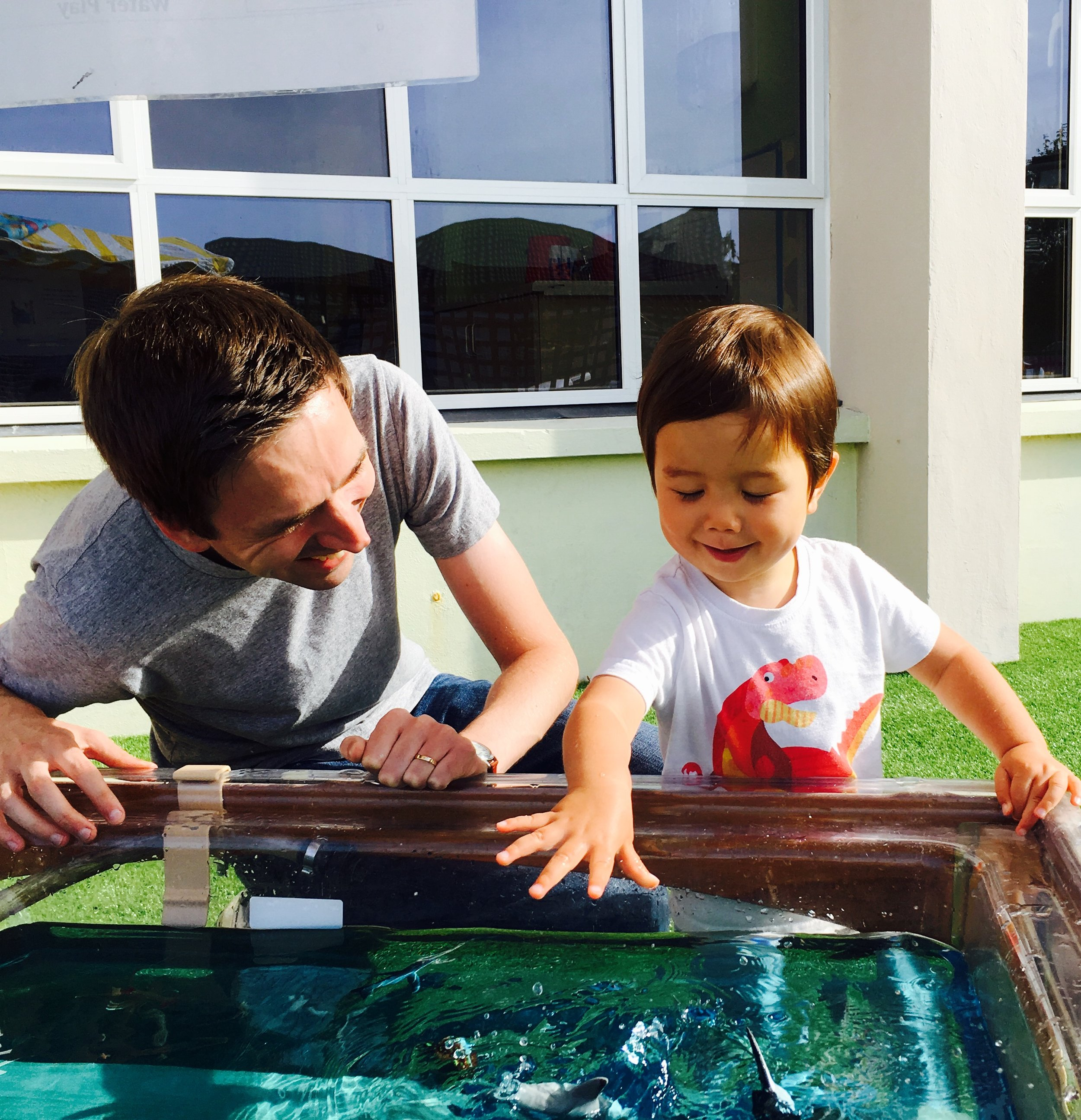 Dann having a whale of a time with Dad Nick at Brighter Futures Dad's Club