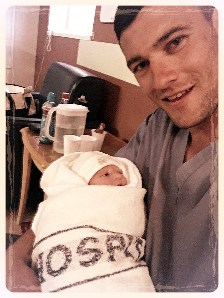 Ollie with daughter Kaia
