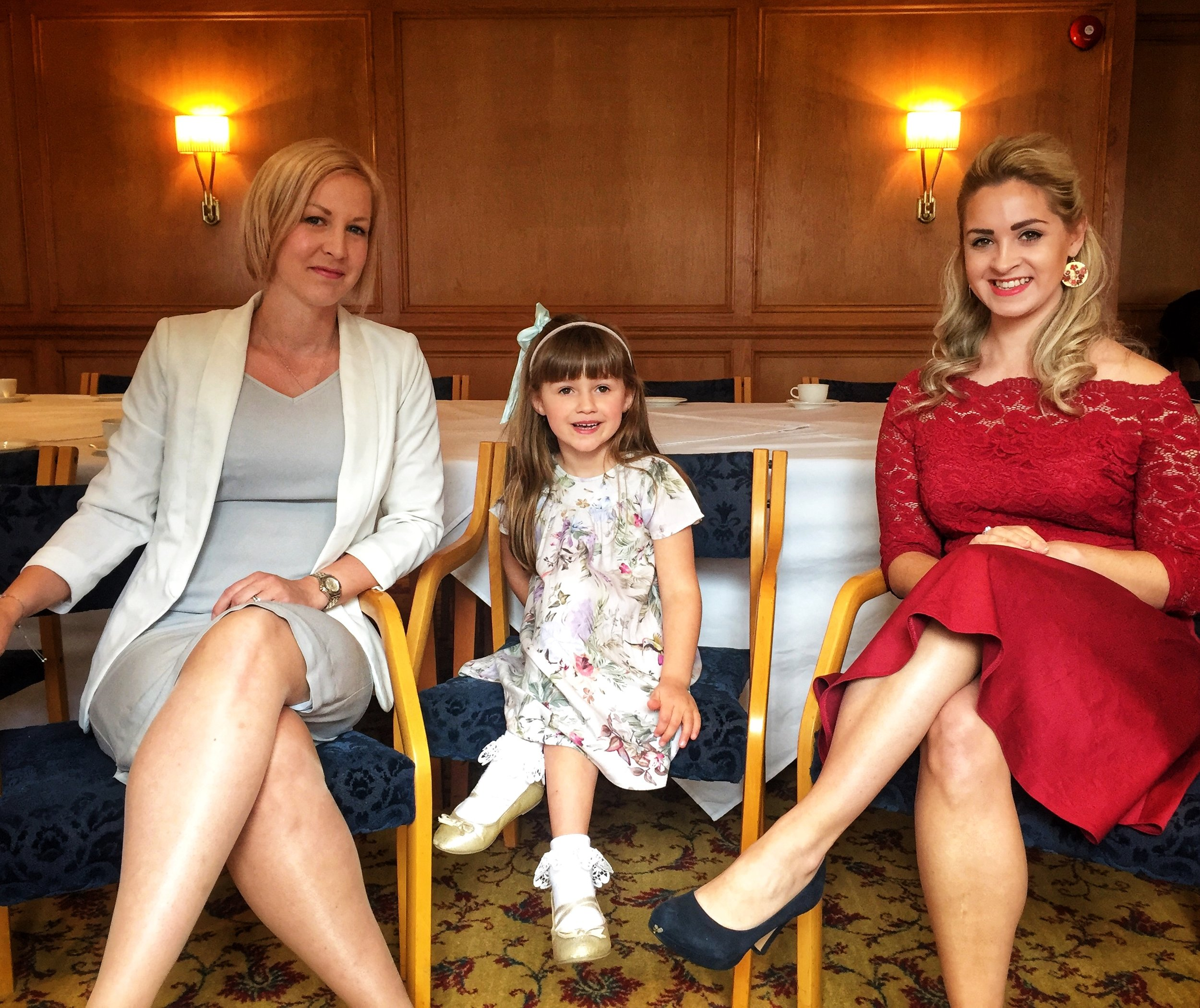 Claire Graves and Amy Gunner of The Rock School of Etiquette with little lady Georgia