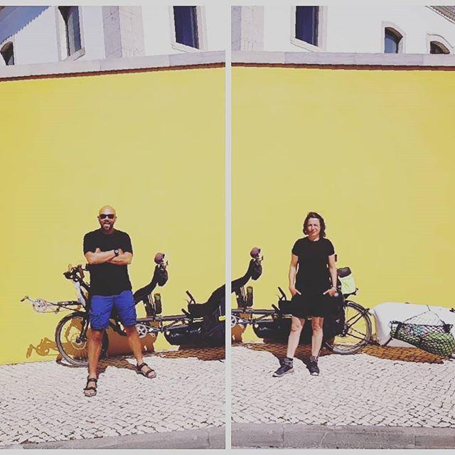Sun is back in Faro... ☀️☀️☀️☀️ . .  #nazcaligfiets #tzc #alittlebitofworld #ortlieb #radicaldesign #tandembike #bikewander #bicycletouring #bicycle #recumbent #tandem #rideschwalbe #rohloff #ventisit #airzound #avid #biketravel #globetrotter #guitalele #bicycletrip #bicycletour #bicycletrailer #bicyclevoyager #bicylife #lezyneusa #adventurecycling #adventurebybike