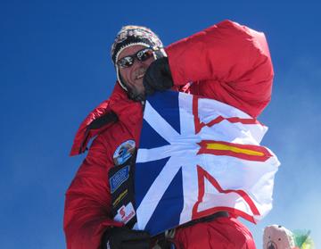 Al Hancock, the 1ST Newfoundlander to summit Mount Everest