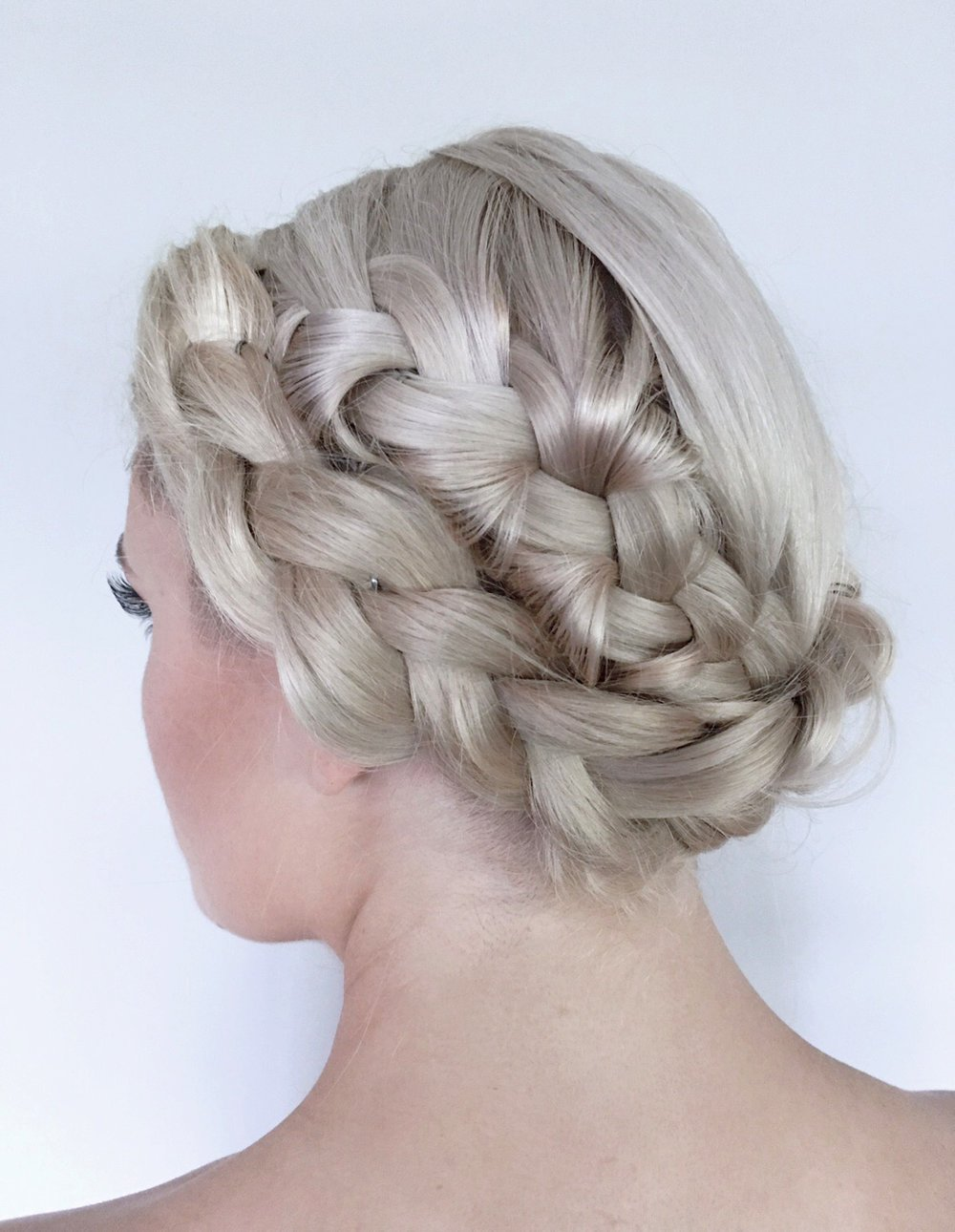 Updo style by Lari Manz, stylist and hair expert in Hudson, NY