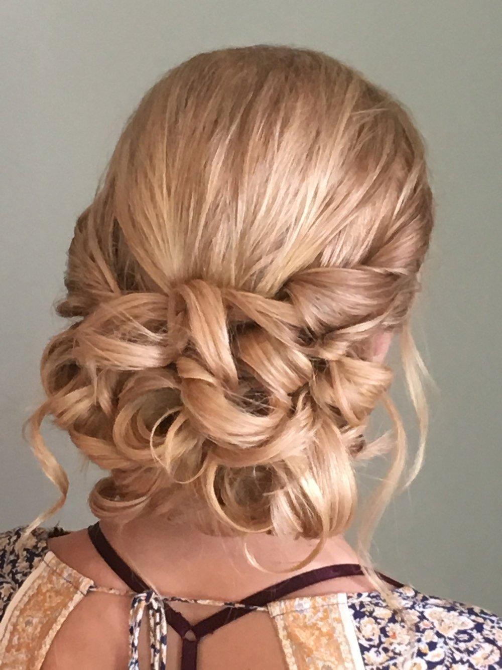 Blonde updo style Davines | Lari Manz Hair and Makeup