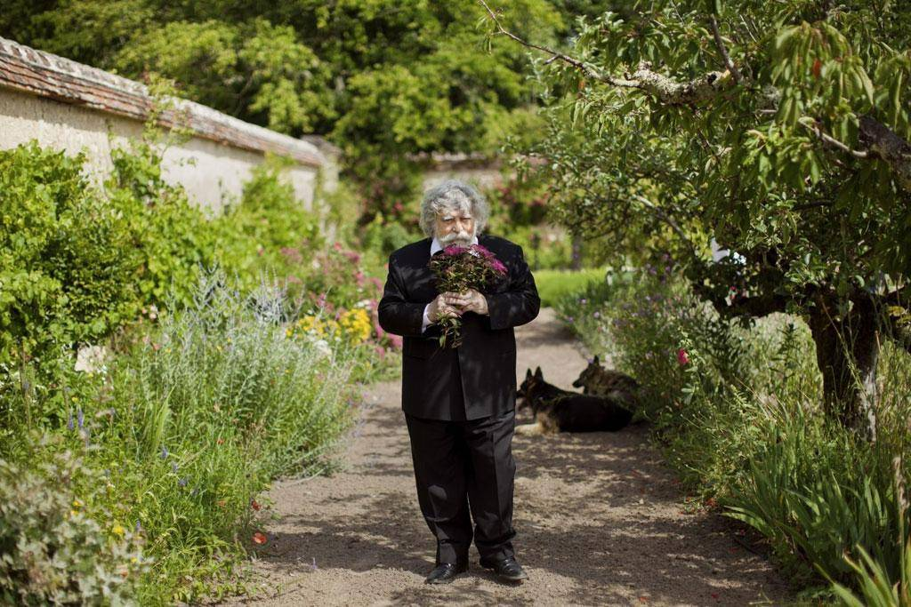 PHYTO founder Patrick Alès in the French garden that is the inspiration for his beauty products