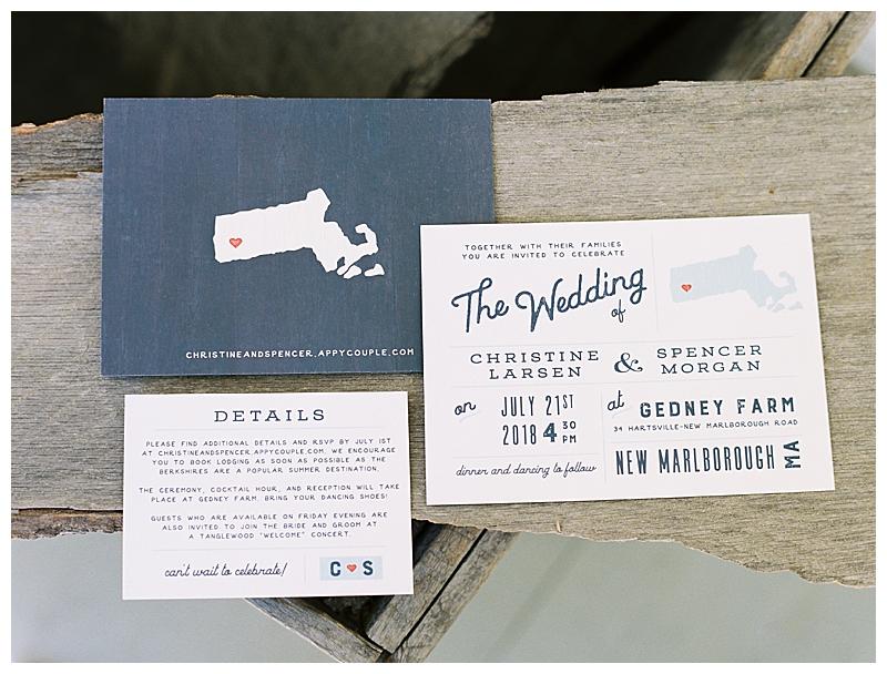 Gedney Farm Wedding invitations