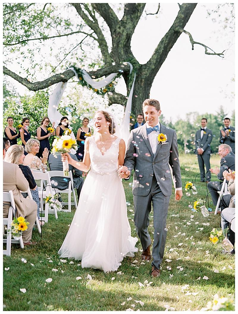 Rustic wedding ceremony in Berkshires Massachusetts