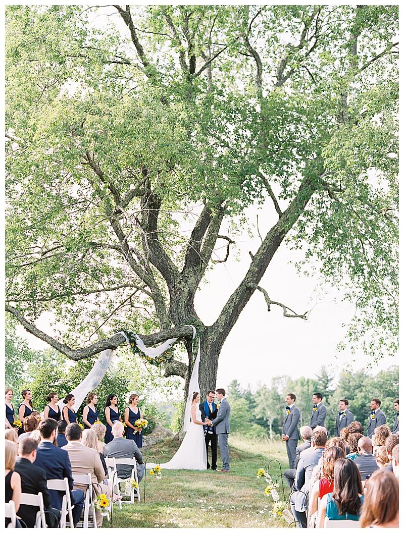 Bride and groom at Berkshires wedding.