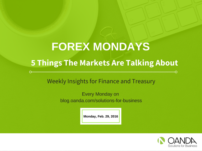 "Content for the ""Forex Mondays"" Series is provided by the foreign exchange analysts at Marketpulse.com."