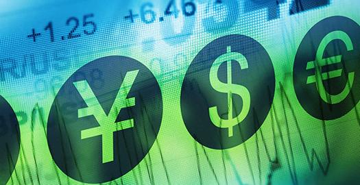 Yen, Dollar, Euro