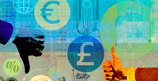The euro and pound hit a 13- month high against the dollar.