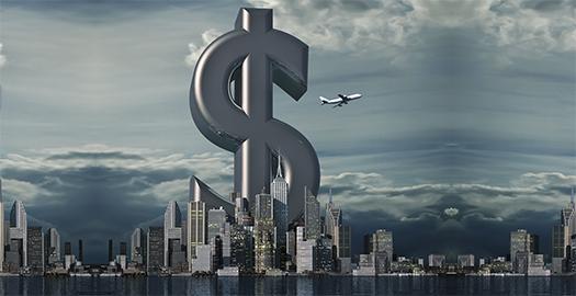 Dollar in city