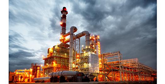 Oil Refinery in Hurricane Harvey