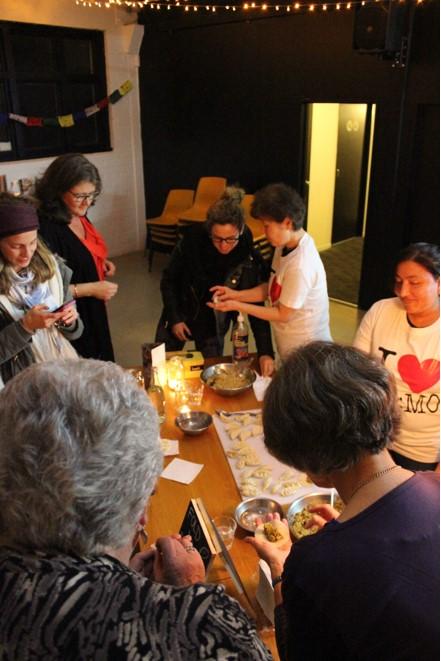 Dumpling folding workshop