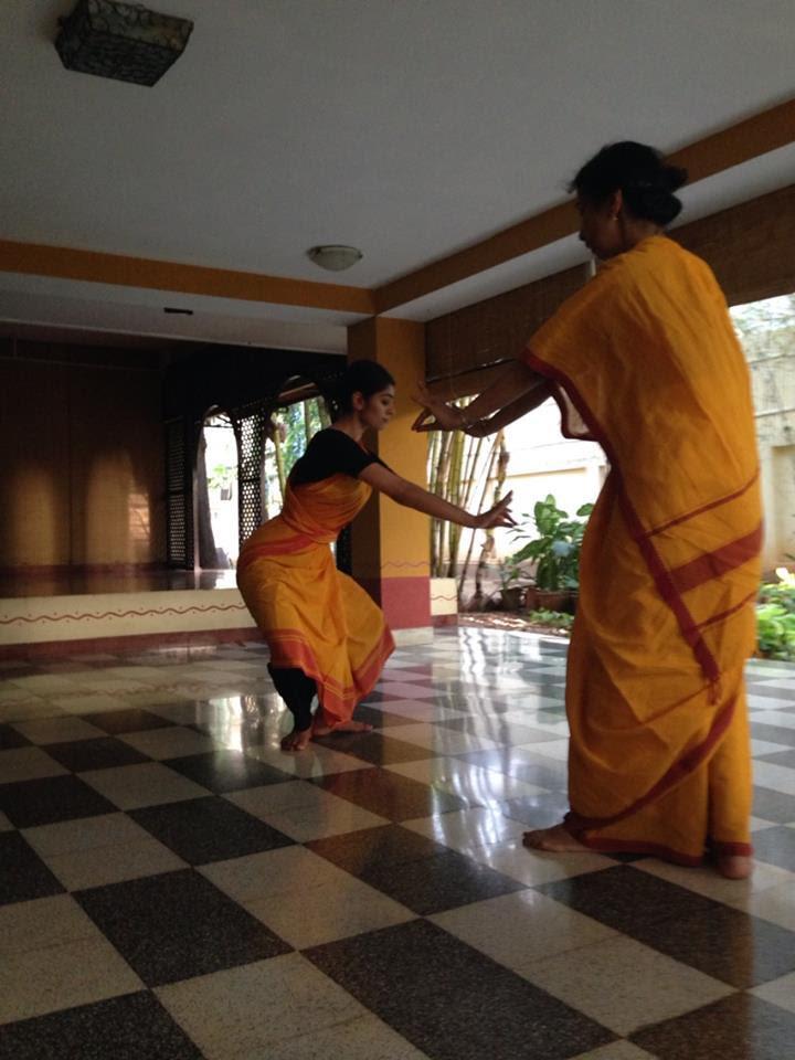 Ashwini Ramaswamy studying with Alarmél Valli in Chennai, India