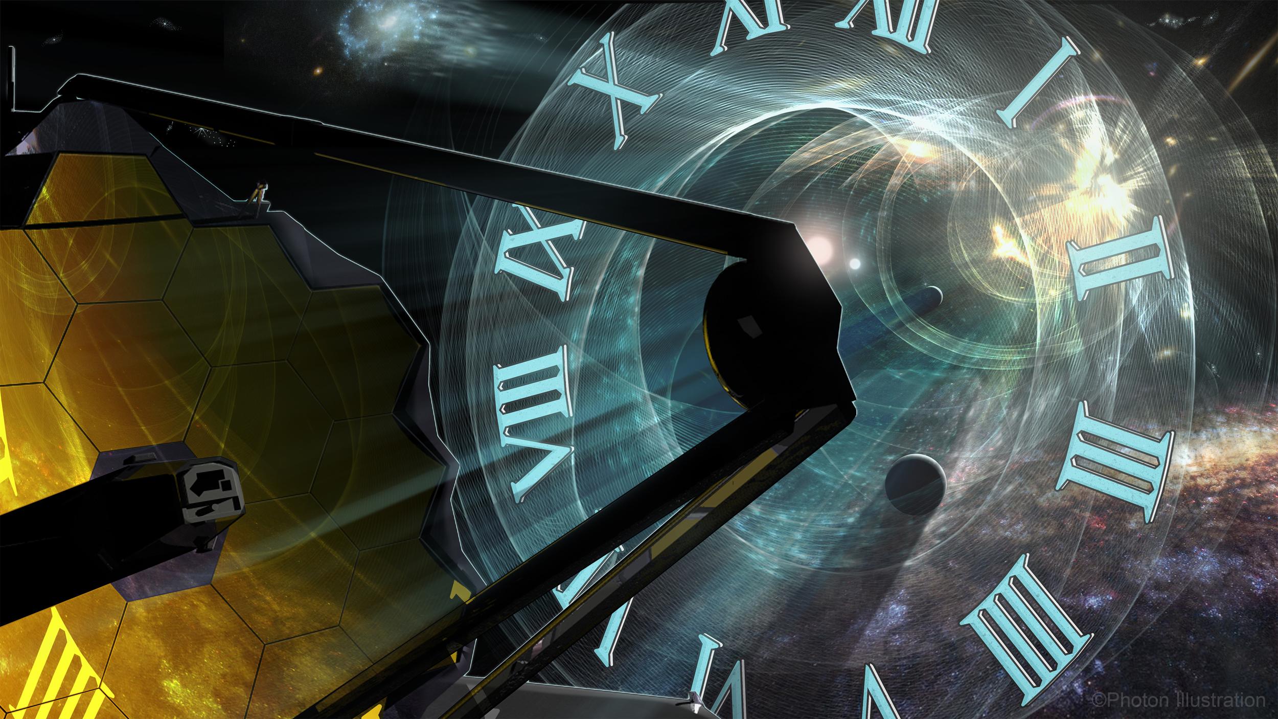 Time Travel Through Mirrors: James Webb Space Telescope