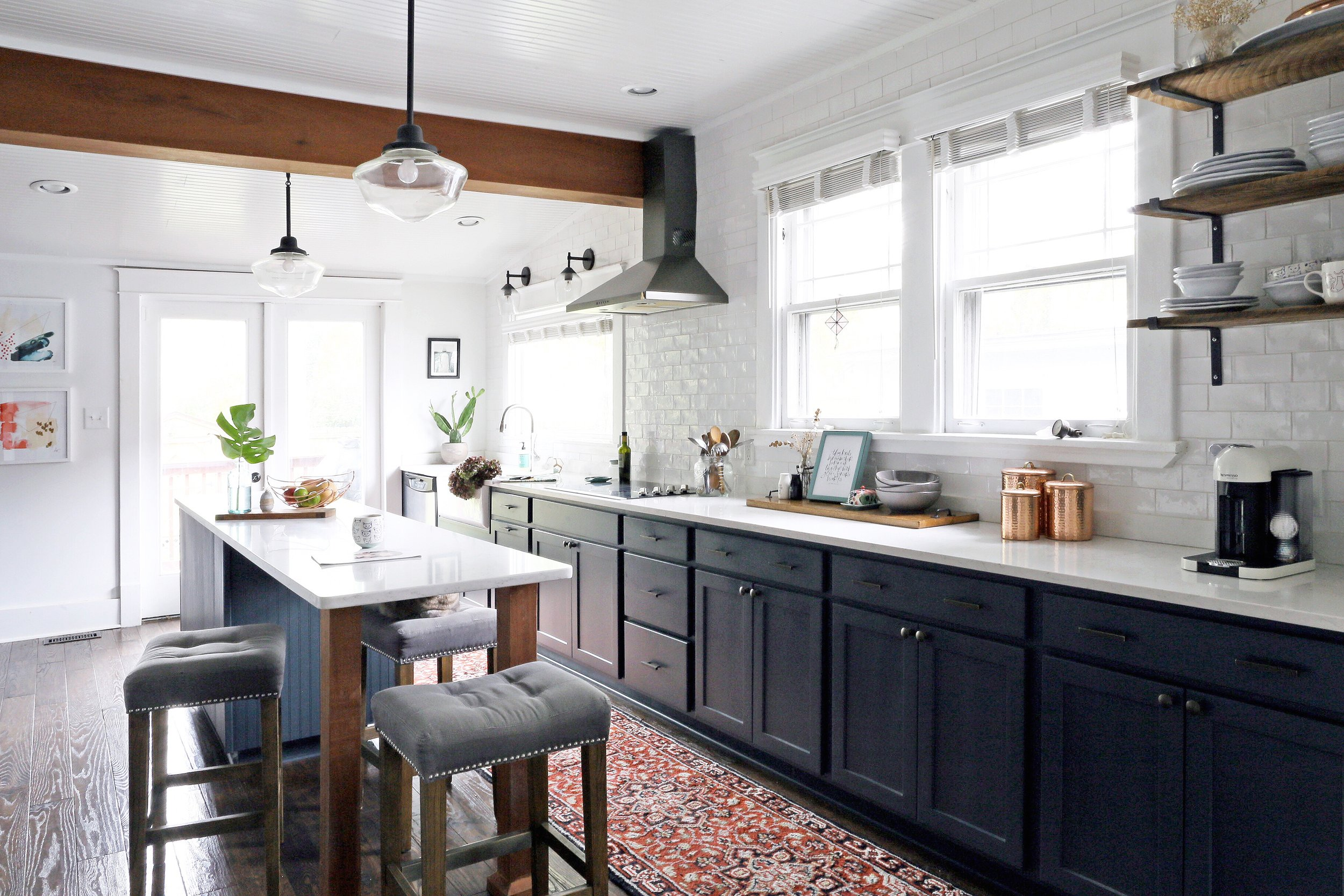 A MODERN BUNGALOW KITCHEN REVEAL IN EAST NASHVILLE | Design by Life of Plenty Home