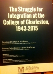 The struggle for integration at the College of Charleston, 1943-2015.jpg
