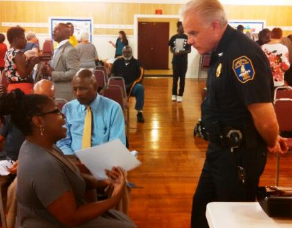 Charleston Police Chief Gregory Mullen at Listening Session of Illumination Project.