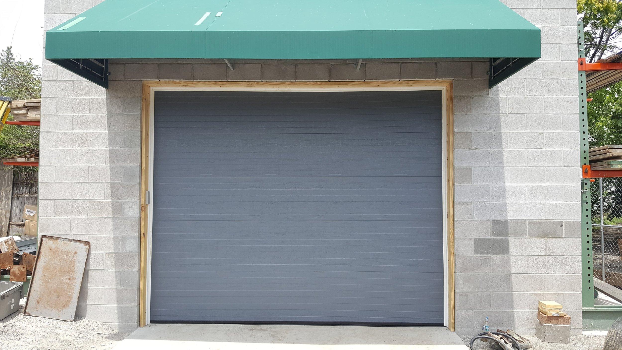 Baltimore Oh New Commercial Garage Door Installation.