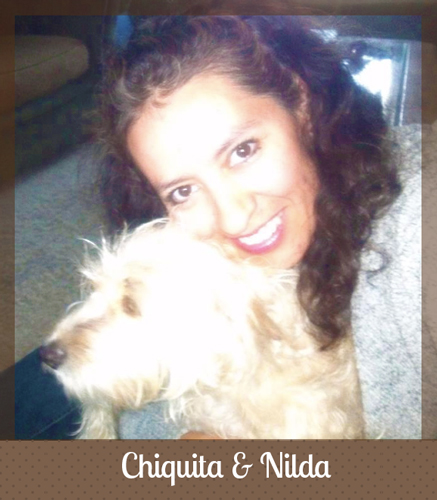 Nilda and her dog Chiquita