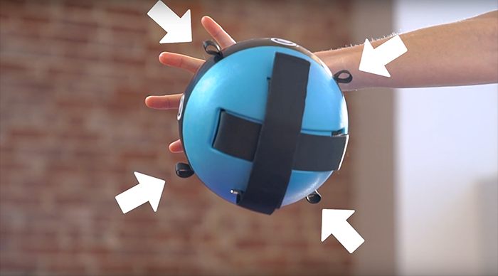 Make sure clips and additional straps are removed from the Gravity Ball™ before foam rolling